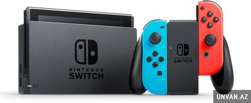 Nintendo Switch Neon Blue and Red Joy-Con (32GB, Mu