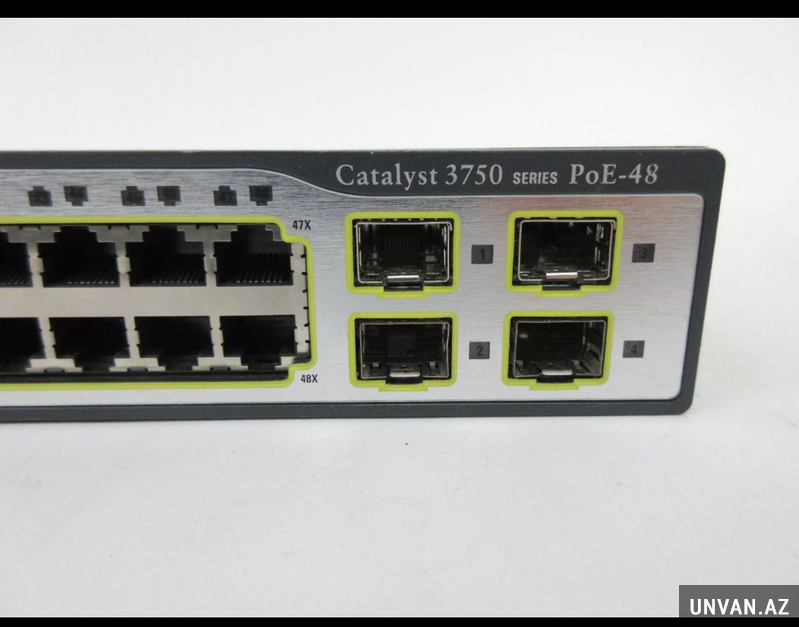 Cisco switch 3750 PoE - 48