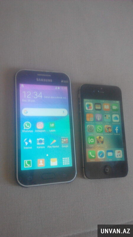 Samsung Galaxy J1 ve İPhone 4S 8Gb