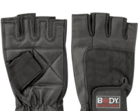 BODY SCULPTURE LEATHER FITNESS GLOVES