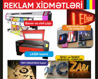 Reklam xidmetleri ve led monitor