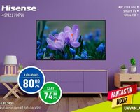 Hisense 124 Ekran Smart Tv Ultra HD Münasib Kredit