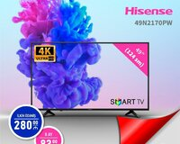 HİSENSE 4K ULTRA HD SMART TV kreditlə