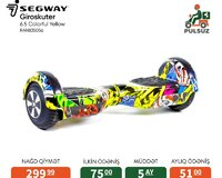 Segway Giroskuter 6.5 Colorful Yellow Kreditlə