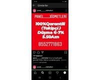 Instagram panel oyredilir