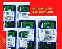 Notbuk üçün ddr3 4gb orginal Kingston ramları