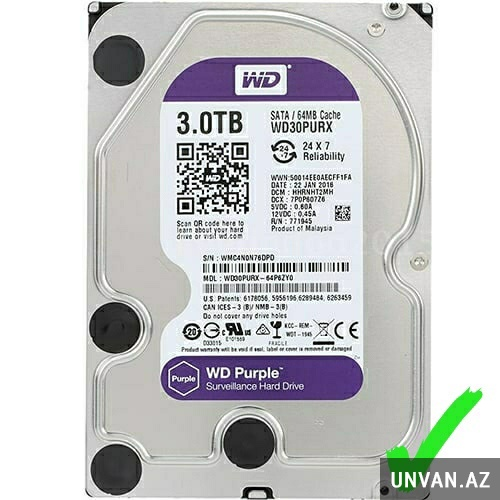 3Tb WD Purple HDD